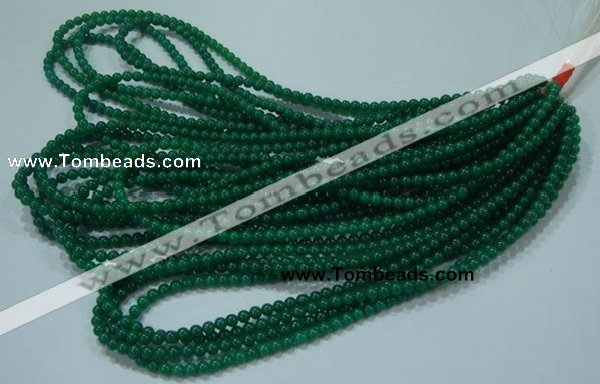 CTG25 15.5 inches 4mm round tiny green agate beads wholesale