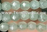 CTG2521 15.5 inches 4mm faceted round green aventurine beads