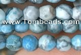 CTG2535 15.5 inches 4mm faceted round blue crazy lace agate beads