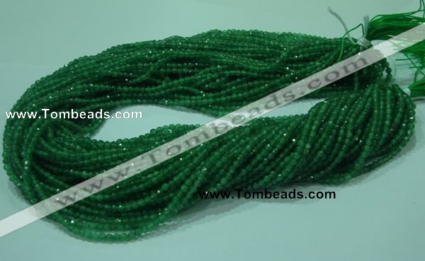 CTG27 15.5 inches 3mm faceted round tiny aventurine beads
