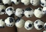 CTG3558 15.5 inches 4mm faceted round dalmatian jasper beads