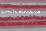CTG402 15.5 inches 2mm faceted round tiny dyed candy jade beads