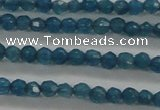 CTG410 15.5 inches 2mm faceted round tiny dyed candy jade beads