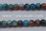 CTG450 15.5 inches 3mm round tiny dyed rain flower stone beads