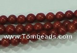 CTG48 15.5 inches 2mm round tiny red brick beads wholesale
