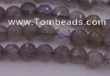 CTG509 15.5 inches 4mm faceted round tiny labradorite beads