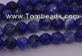 CTG513 15.5 inches 4mm faceted round tiny sodalite beads