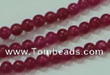 CTG57 15.5 inches 2mm round tiny dyed white jade beads wholesale