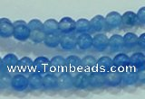 CTG62 15.5 inches 2mm round tiny dyed white jade beads wholesale