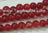 CTG67 15.5 inches 3mm round tiny dyed white jade beads wholesale
