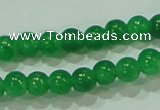CTG69 15.5 inches 3mm round tiny dyed white jade beads wholesale