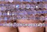 CTG701 15.5 inches 3mm faceted round tiny labradorite beads
