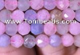 CTG713 15.5 inches 5mm faceted round tiny morganite beads