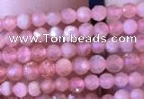 CTG715 15.5 inches 2mm faceted round tiny rhodochrosite beads