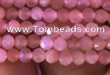 CTG718 15.5 inches 2mm faceted round tiny peach moonstone beads