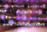 CTG730 15.5 inches 3mm faceted round tiny tourmaline beads