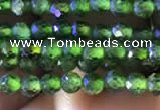 CTG748 15.5 inches 3mm faceted round tiny diopside beads