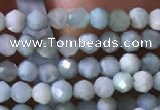 CTG768 15.5 inches 2mm faceted round tiny larimar gemstone beads