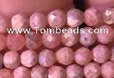 CTG800 15.5 inches 3mm faceted round tiny rhodochrosite beads