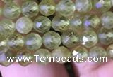 CTG814 15.5 inches 5mm faceted round tiny prehnite beads