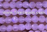 CTG831 15.5 inches 3mm faceted round tiny white moonstone beads