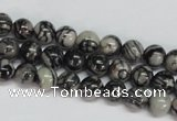CTJ25 15.5 inches 8mm round black water jasper beads wholesale