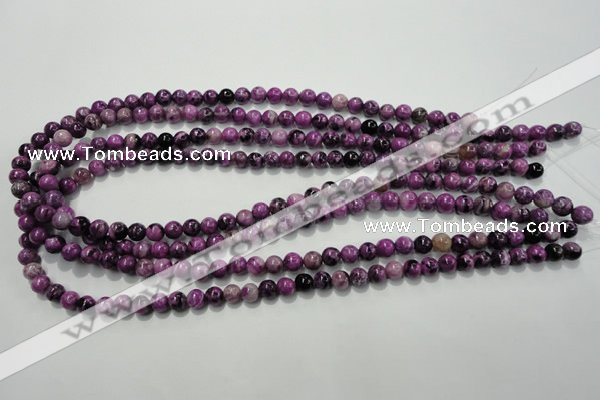 CTJ501 15.5 inches 6mm round dyed purple jasper beads wholesale