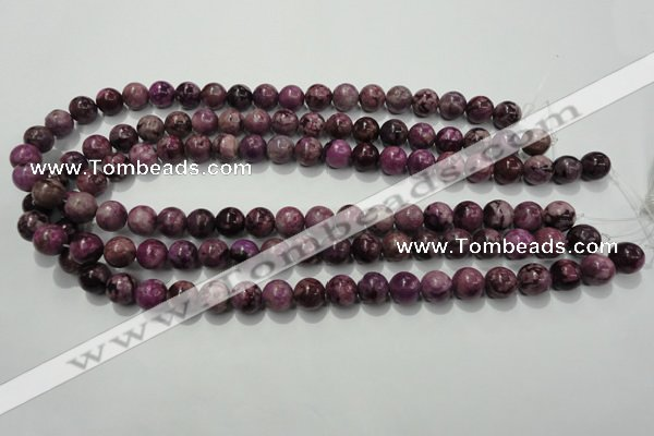 CTJ503 15.5 inches 10mm round dyed purple jasper beads wholesale