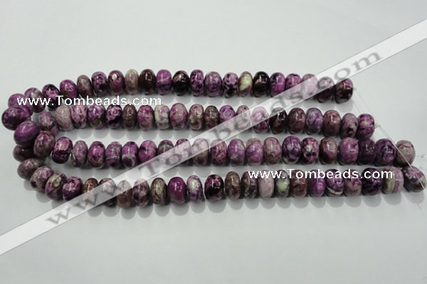 CTJ514 15.5 inches 10*14mm rondelle dyed purple jasper beads wholesale
