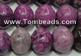 CTJ516 15.5 inches 14*18mm rondelle dyed purple jasper beads wholesale