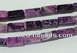 CTJ530 15.5 inches 5*12mm cuboid dyed purple jasper beads wholesale