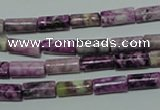 CTJ533 15.5 inches 4*11mm tube dyed purple jasper beads wholesale