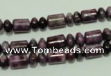 CTJ537 15.5 inches 3*6mm rondelle & 5*8mm tube dyed purple jasper beads