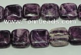 CTJ553 15.5 inches 12*12mm square dyed purple jasper beads