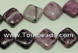 CTJ563 15.5 inches 12*12mm diamond dyed purple jasper beads