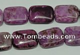 CTJ573 15.5 inches 13*18mm rectangle dyed purple jasper beads