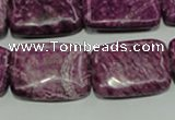 CTJ574 15.5 inches 18*25mm rectangle dyed purple jasper beads