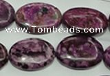 CTJ585 15.5 inches 18*25mm oval dyed purple jasper beads