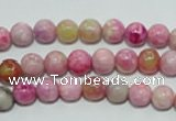 CTJ601 15.5 inches 6mm round dyed fuchsia jasper beads wholesale