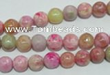 CTJ602 15.5 inches 8mm round dyed fuchsia jasper beads wholesale