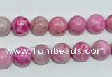CTJ603 15.5 inches 10mm round dyed fuchsia jasper beads wholesale