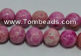 CTJ604 15.5 inches 12mm round dyed fuchsia jasper beads wholesale