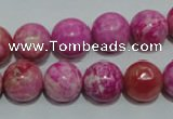 CTJ605 15.5 inches 14mm round dyed fuchsia jasper beads wholesale