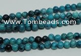 CTJ630 15.5 inches 4mm round dyed blue jasper beads wholesale