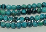 CTJ631 15.5 inches 6mm round dyed blue jasper beads wholesale