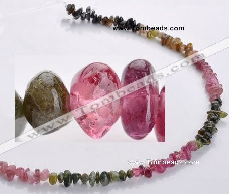 CTO03 15.5 inches 4*7mm freeform natural tourmaline chips beads