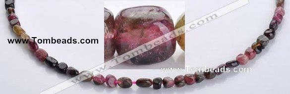 CTO06 15.5 inches 4*7mm freeform natural tourmaline beads