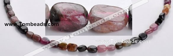 CTO07 5*8mm 15.5 inches freeform natural tourmaline beads