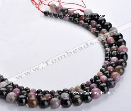 CTO10 16 inch round natural tourmaline gemstone beads wholesale