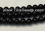 CTO102 15.5 inches 8mm round natural black tourmaline beads